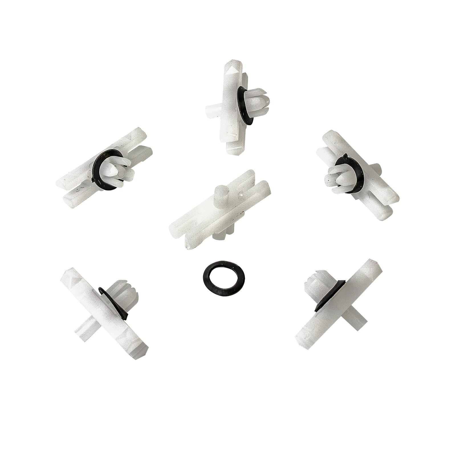 10X  Clips  Zierleistenklammer mit Tülle Dichtung VW  Passat 3B2 3B3 3B5 3B6