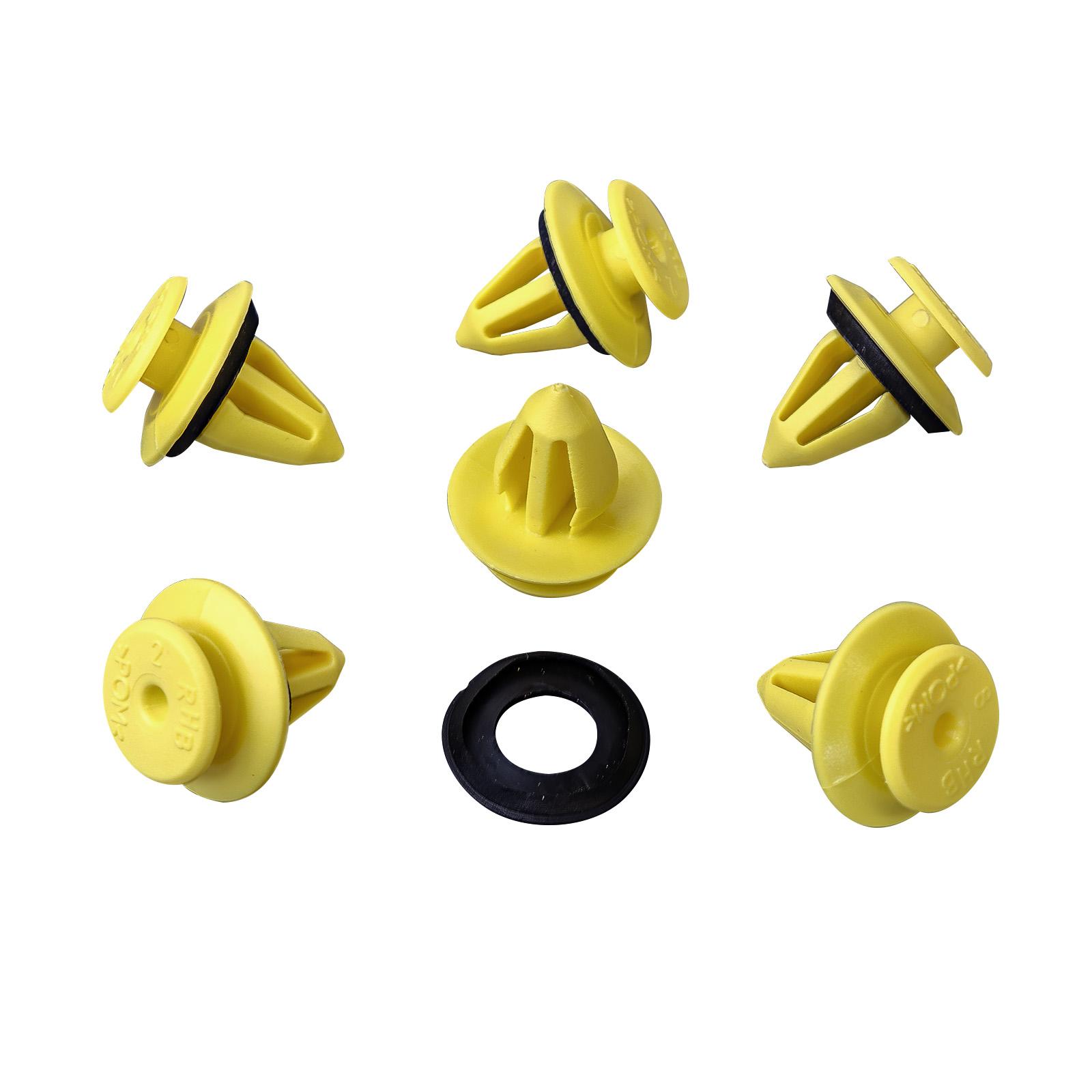 10x Verkleidung Befestigungs Clips mit Dichtung für VW Skoda PorscheUniversal