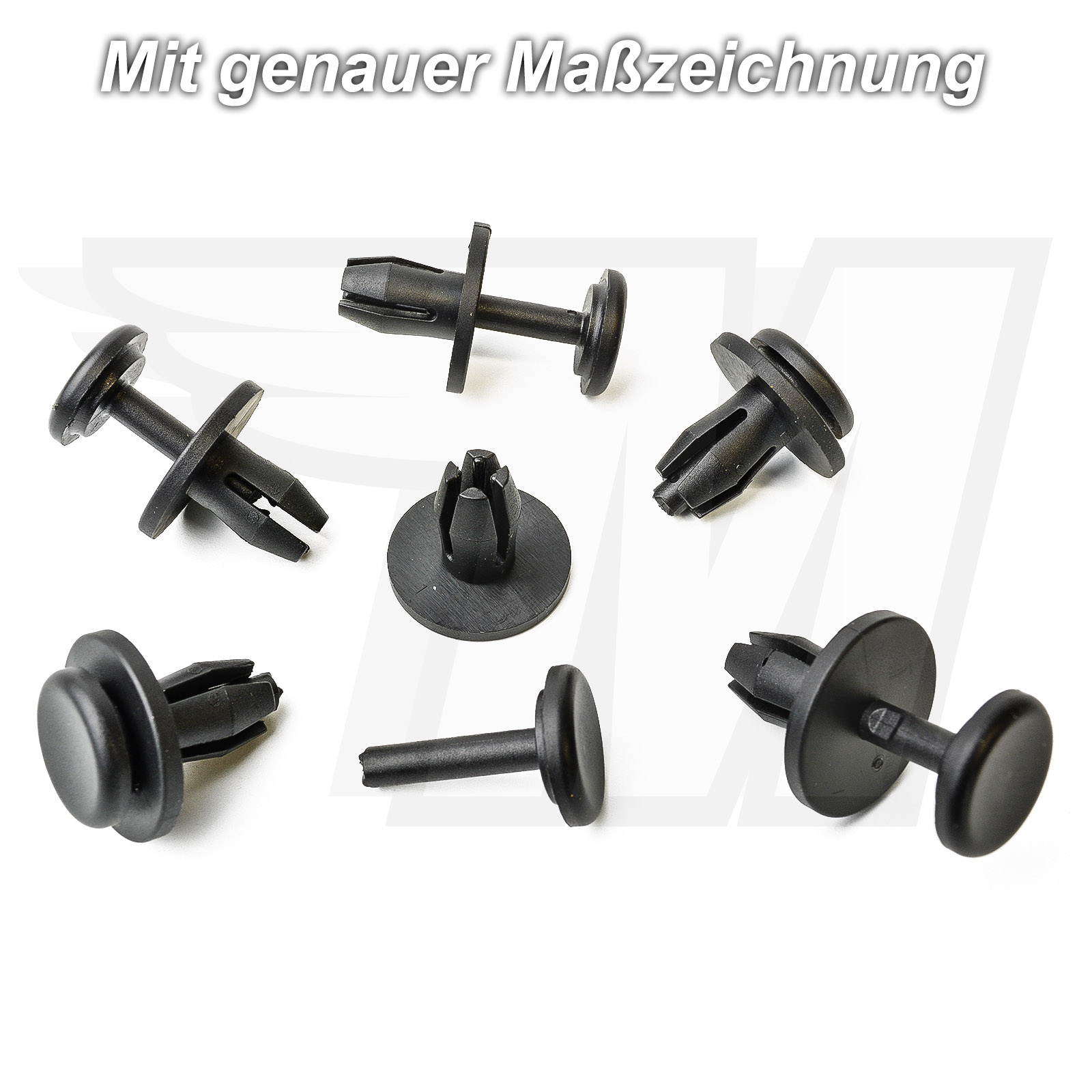 10x Mercedes-Benz Fermo//Rivetto Paraurti Pannello trim CLIPS