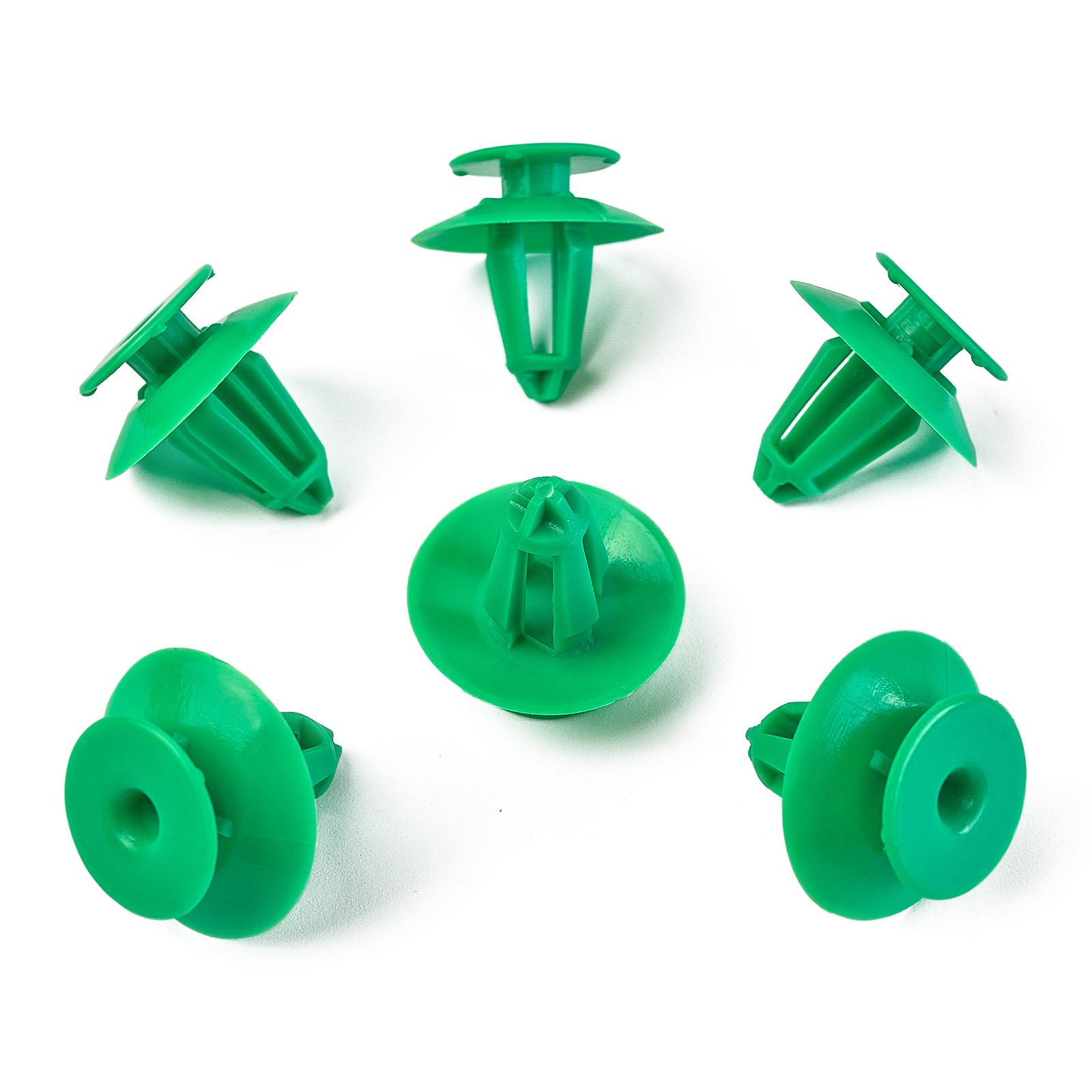 5x porte Carénage Clips fixation plastique vert pour audi vw893867290
