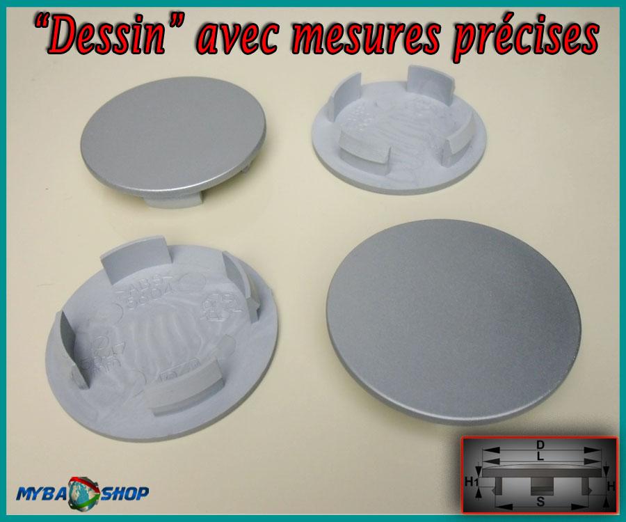 4x centre de roue plat cache moyeu jante 56 0mm caches moyeux jantes neuf ebay. Black Bedroom Furniture Sets. Home Design Ideas
